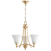 Quorum 6177-3-60 Aspen 3 Light 21 inch Aged Silver Leaf Chandelier Ceiling Light
