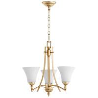 Quorum 6177-3-60 Aspen 3 Light 21 inch Aged Silver Leaf Chandelier Ceiling Light