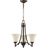 Quorum 6177-3-86 Aspen 3 Light 21 inch Oiled Bronze Chandelier Ceiling Light