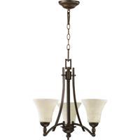 Quorum 6177-3-86 Aspen 3 Light 21 inch Oiled Bronze Chandelier Ceiling Light