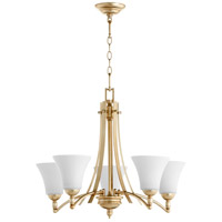Quorum 6177-5-60 Aspen 5 Light 27 inch Aged Silver Leaf Chandelier Ceiling Light