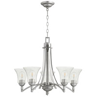Quorum 6177-5-64 Aspen 5 Light 27 inch Classic Nickel Chandelier Ceiling Light