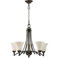 Aspen 5 Light 27 inch Oiled Bronze Chandelier Ceiling Light in Linen