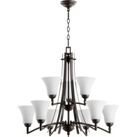 Quorum 6177-9-186 Aspen 9 Light 30 inch Oiled Bronze Chandelier Ceiling Light
