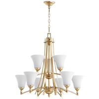 Quorum 6177-9-60 Aspen 9 Light 30 inch Aged Silver Leaf Chandelier Ceiling Light