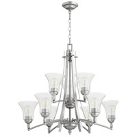 Quorum 6177-9-64 Aspen 9 Light 30 inch Classic Nickel Chandelier Ceiling Light