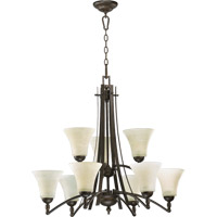 Quorum 6177-9-86 Aspen 9 Light 30 inch Oiled Bronze Chandelier Ceiling Light