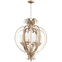 Quorum 6180-6-60 Chalon 6 Light 23 inch Aged Silver Leaf Chandelier Ceiling Light