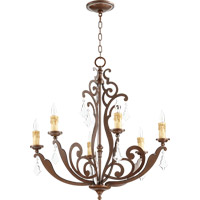 Quorum 619-6-39 Montgomery 6 Light 28 inch Vintage Copper Chandelier Ceiling Light