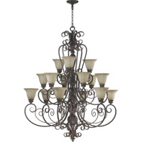 Quorum International Coronado 15 Light Chandelier in Gilded Bronze 6195-15-38