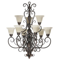 Coronado 9 Light 34 inch Gilded Bronze Chandelier Ceiling Light