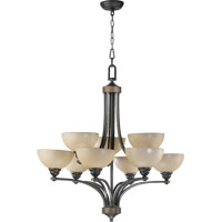 Quorum International Hemisphere 9 Light Chandelier in Old World 620-9-95