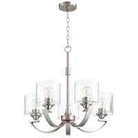 Quorum 6202-5-65 Dakota 5 Light 24 inch Satin Nickel Chandelier Ceiling Light