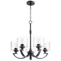 Quorum 6202-5-69 Dakota 5 Light 24 inch Noir Chandelier Ceiling Light