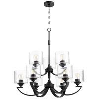 Quorum 6202-9-69 Dakota 9 Light 3 inch Noir Chandelier Ceiling Light