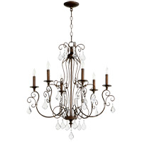 Quorum 6205-6-39 Ariel 6 Light 27 inch Vintage Copper Chandelier Ceiling Light
