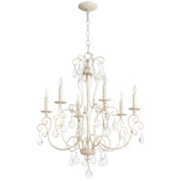 Quorum 6205-6-70 Ariel 6 Light 27 inch Persian White Chandelier Ceiling Light