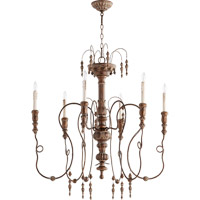 Salento 6 Light 34 inch Vintage Copper Chandelier Ceiling Light