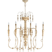 Quorum 6206-6-70 Salento 6 Light 34 inch Persian White Chandelier Ceiling Light