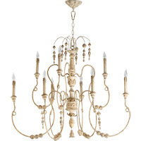 Quorum 6206-9-70 Salento 9 Light 41 inch Persian White Chandelier Ceiling Light