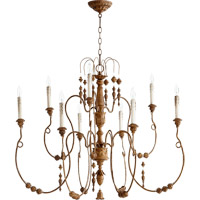 Quorum International Salento 9 Light Chandelier in French Umber 6206-9-94