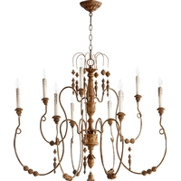 Quorum 6206-9-94 Salento 9 Light 41 inch French Umber Chandelier Ceiling Light