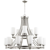 Quorum 6207-15-65 Lancaster 15 Light 38 inch Satin Nickel Chandelier Ceiling Light