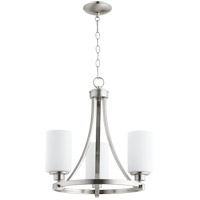 Lancaster 3 Light 18 inch Satin Nickel Chandelier Ceiling Light