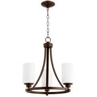 Quorum 6207-3-86 Lancaster 3 Light 18 inch Oiled Bronze Chandelier Ceiling Light
