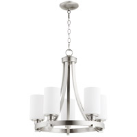 Quorum 6207-5-65 Lancaster 5 Light 21 inch Satin Nickel Chandelier Ceiling Light