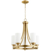 Quorum 6207-5-80 Lancaster 5 Light 21 inch Aged Brass Chandelier Ceiling Light