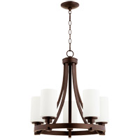 Quorum 6207-5-86 Lancaster 5 Light 21 inch Oiled Bronze Chandelier Ceiling Light