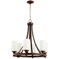 Quorum 6207-6-86 Lancaster 6 Light 25 inch Oiled Bronze Chandelier Ceiling Light