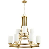 Quorum 6207-9-180 Lancaster 9 Light 29 inch Aged Brass Chandelier Ceiling Light