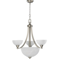 Quorum International Hemisphere 3 Light Chandelier in Satin Nickel 621-3-65
