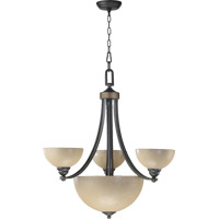 Quorum International Hemisphere 3 Light Chandelier in Old World 621-3-95