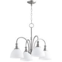 Quorum 6211-4-65 Richmond 4 Light 23 inch Satin Nickel Mini Chandelier Ceiling Light in Satin Opal
