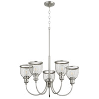 Quorum 6212-5-65 Omni 5 Light 26 inch Satin Nickel Chandelier Ceiling Light, Convertible