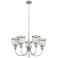 Quorum 6212-5-65 Omni 5 Light 26 inch Satin Nickel Chandelier Ceiling Light Convertible