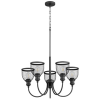Quorum 6212-5-69 Omni 5 Light 26 inch Noir Chandelier Ceiling Light, Convertible