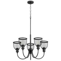 Quorum 6212-5-69 Omni 5 Light 26 inch Noir Chandelier Ceiling Light Convertible