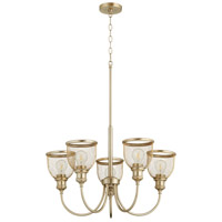 Quorum 6212-5-80 Omni 5 Light 26 inch Aged Brass Chandelier Ceiling Light Convertible