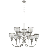 Quorum 6212-9-65 Omni 9 Light 32 inch Satin Nickel Chandelier Ceiling Light