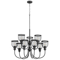 Quorum 6212-9-69 Omni 9 Light 32 inch Noir Chandelier Ceiling Light