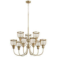 Quorum 6212-9-80 Omni 9 Light 32 inch Aged Brass Chandelier Ceiling Light