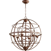 Quorum Salento 6 Light Chandelier in Vintage Copper 6216-6-39