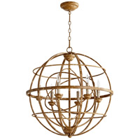 Quorum 6216-6-94 Salento 6 Light 27 inch French Umber Chandelier Ceiling Light