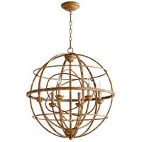 Quorum 6216-6-94 Salento 6 Light 27 inch French Umber Chandelier Ceiling Light