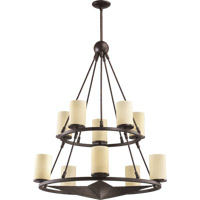Lone Star 10 Light 34 inch Toasted Sienna Chandelier Ceiling Light