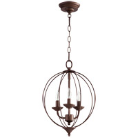 Quorum 623-3-86 Flora 3 Light 13 inch Oiled Bronze Chandelier Ceiling Light